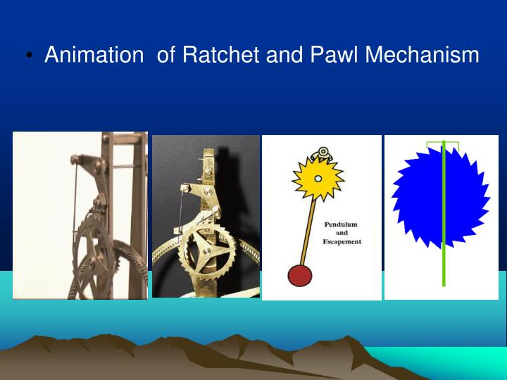 Animation  of Ratchet and Pawl Mechanism