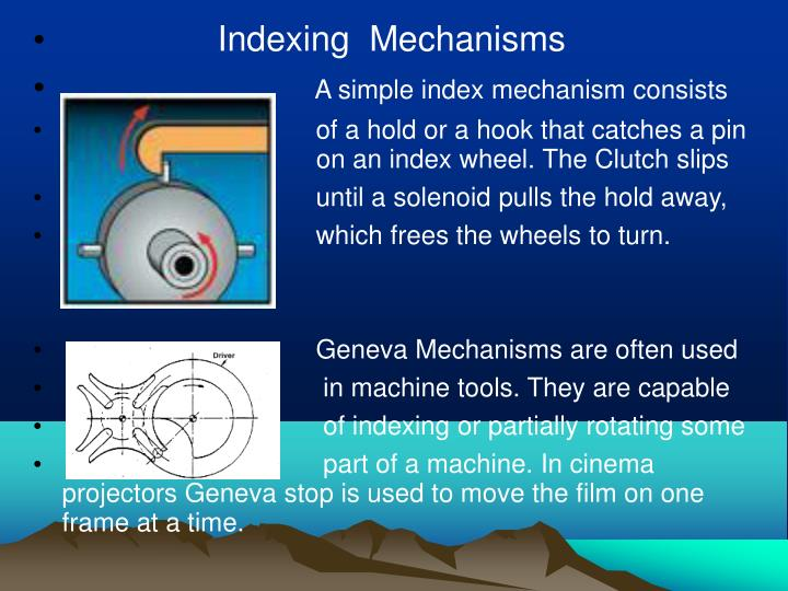 Indexing  Mechanisms