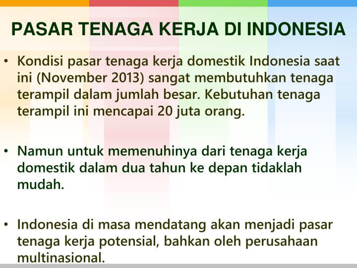 PASAR TENAGA KERJA DI INDONESIA