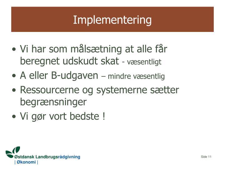 Implementering