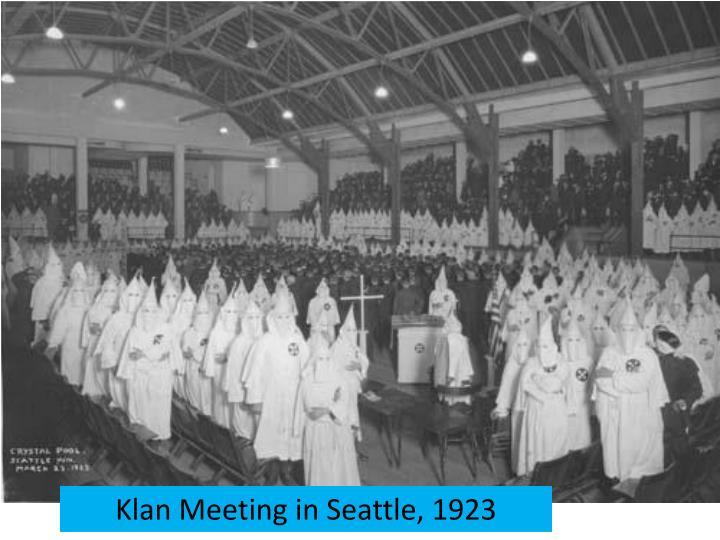 Klan Meeting in Seattle, 1923