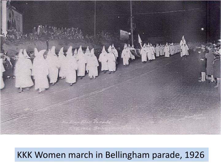 KKK Women march in Bellingham parade, 1926