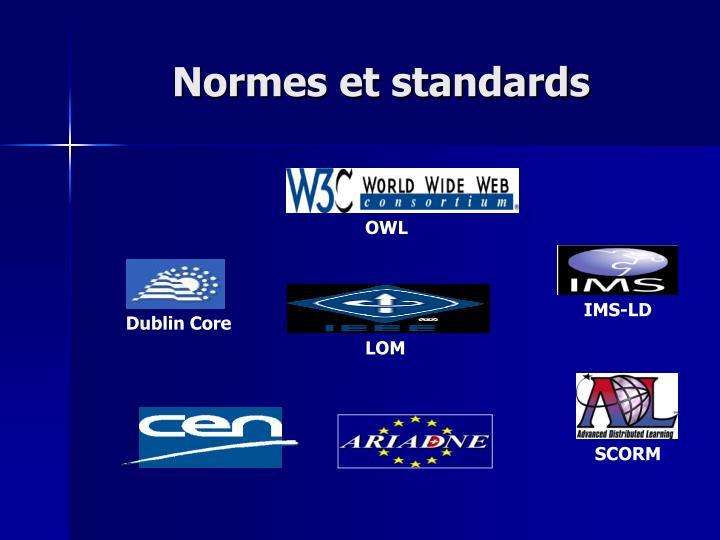 Normes et standards