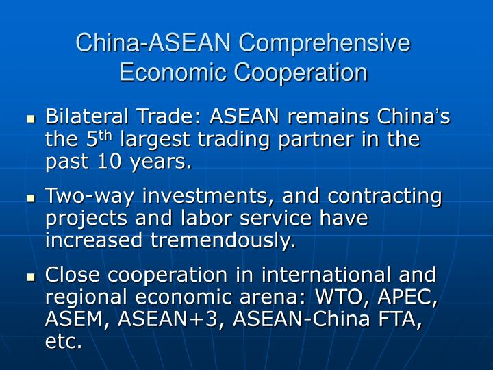 China-ASEAN Comprehensive Economic Cooperation