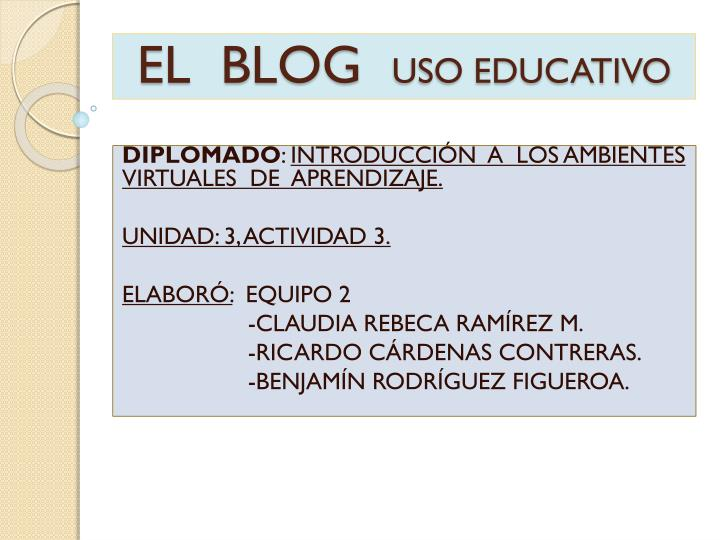 El blog uso educativo