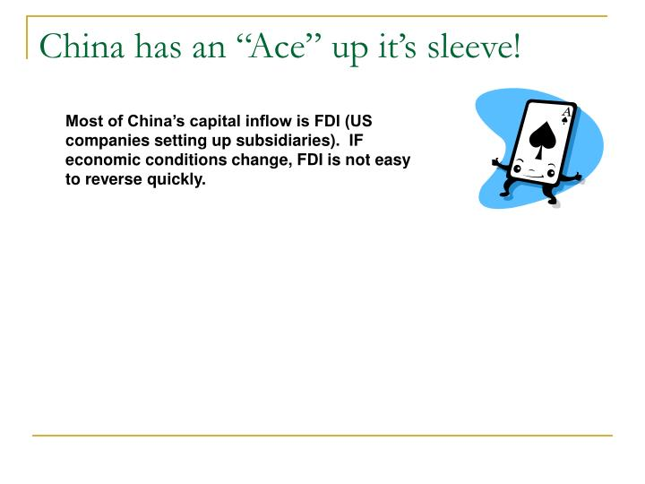 "China has an ""Ace"" up it's sleeve!"