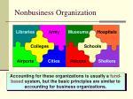 nonbusiness organization