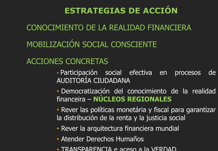 ESTRATEGIAS DE ACCIÓN