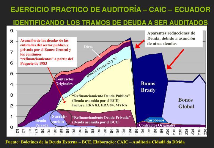 EJERCICIO PRACTICO DE AUDITORÍA – CAIC – ECUADOR