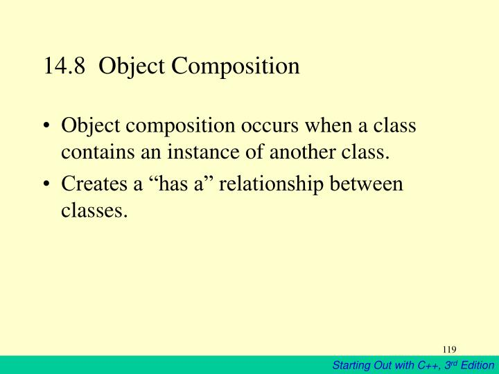 14.8  Object Composition