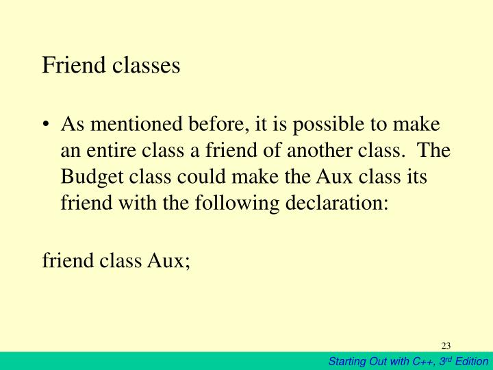 Friend classes