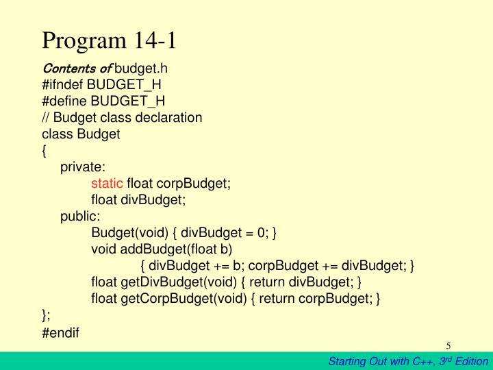 Program 14-1