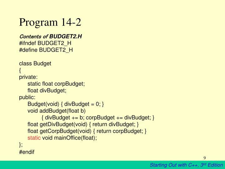 Program 14-2
