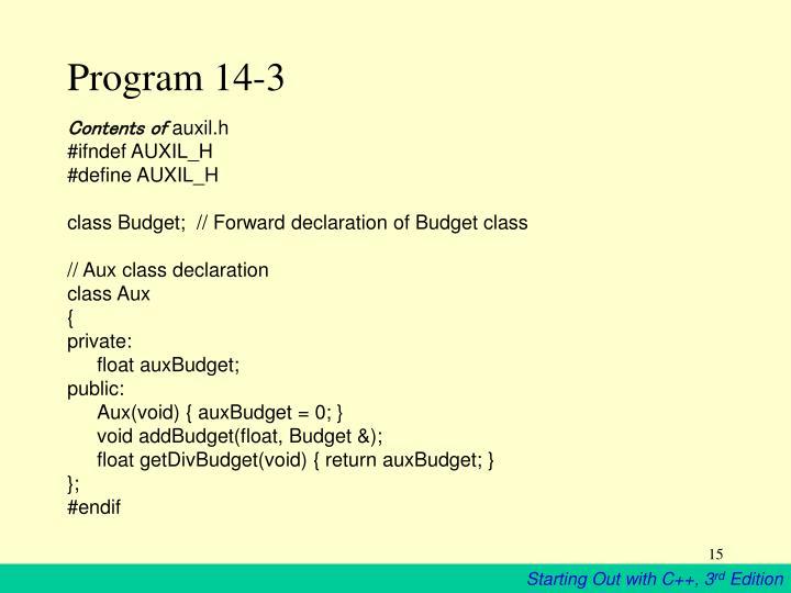 Program 14-3