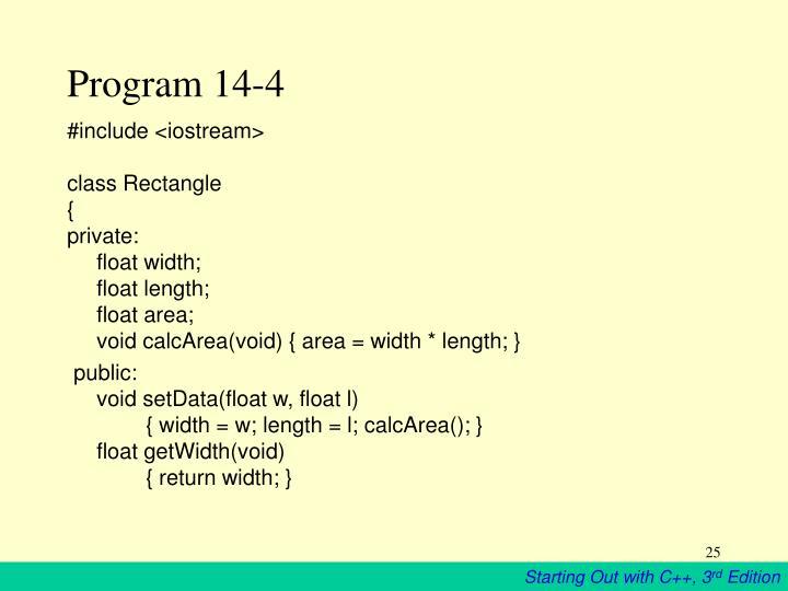 Program 14-4