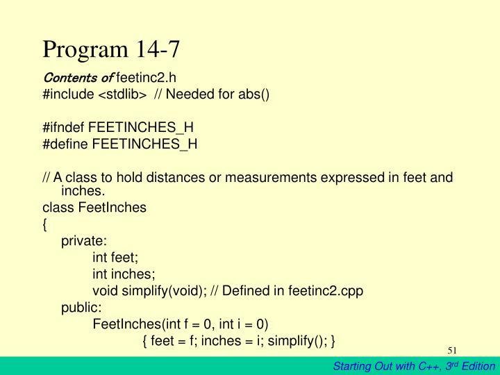 Program 14-7