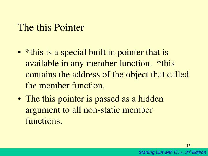 The this Pointer