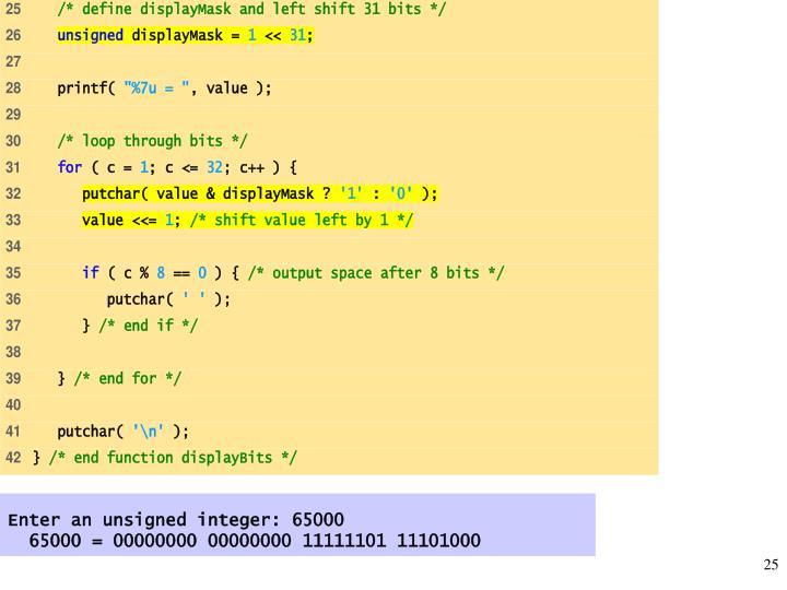 Enter an unsigned integer: 65000