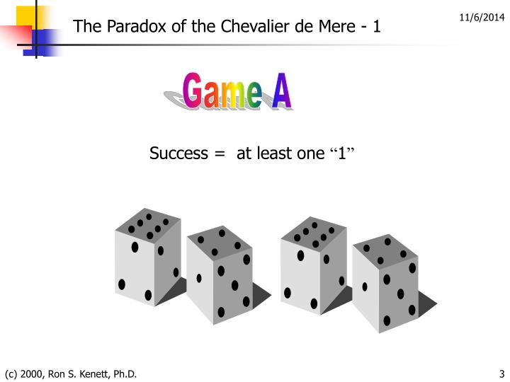 The Paradox of the Chevalier de Mere - 1