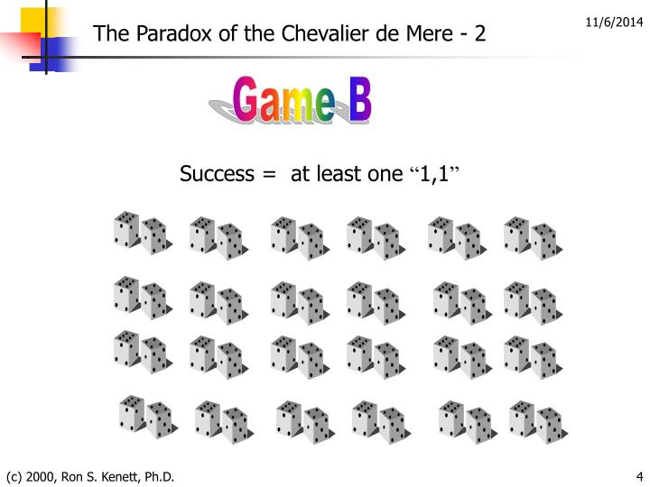 The Paradox of the Chevalier de Mere - 2