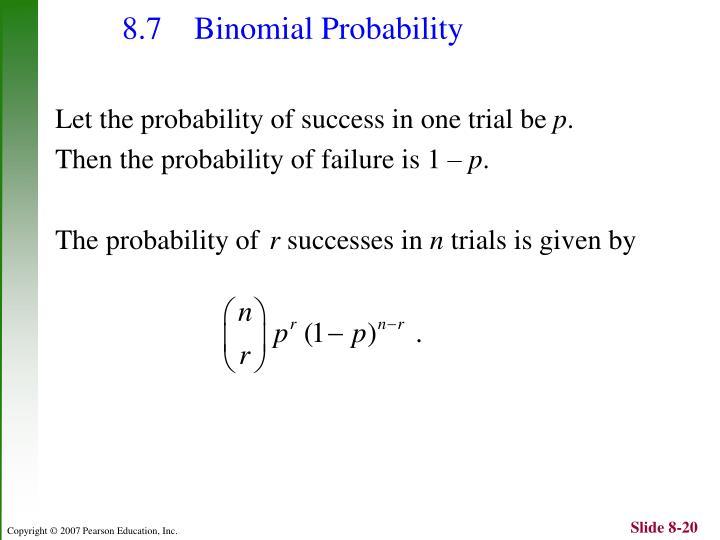 8.7 Binomial Probability