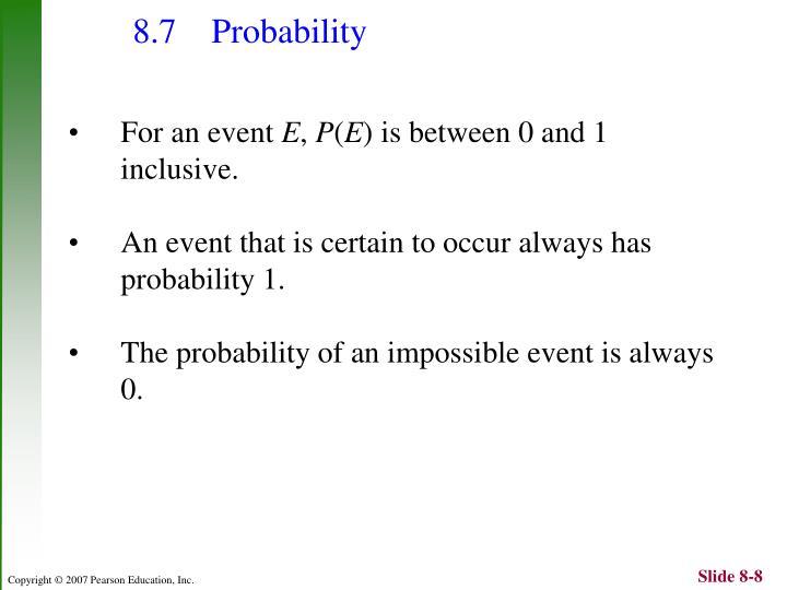 8.7 Probability