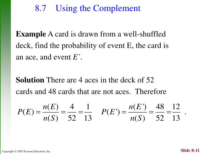 8.7 Using the Complement
