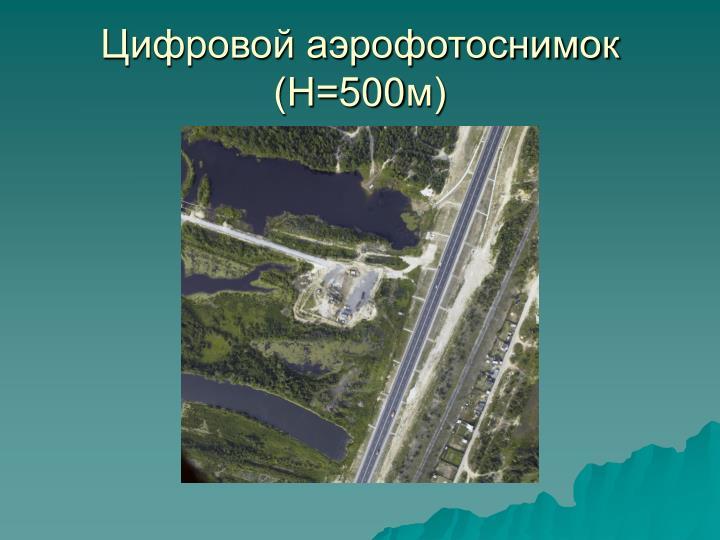 Цифровой аэрофотоснимок (Н=500м)