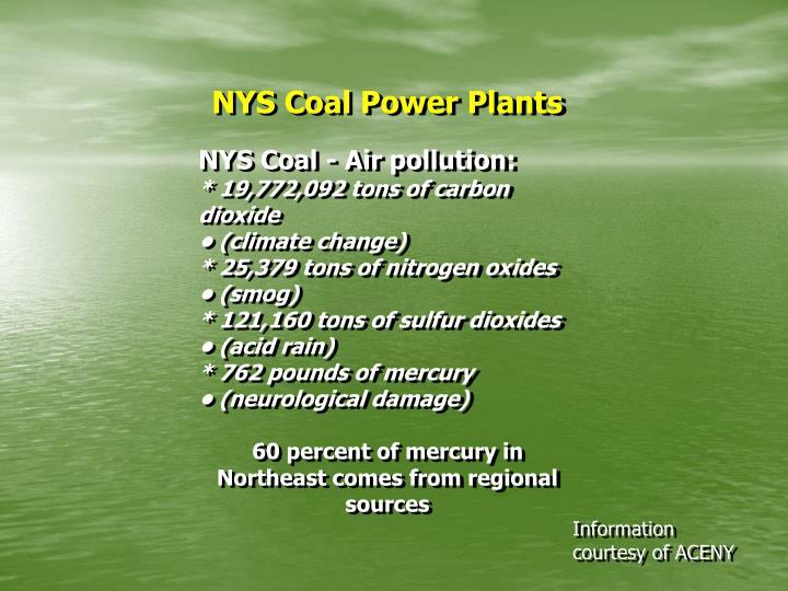 NYS Coal Power Plants