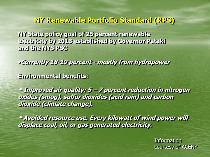 NY Renewable Portfolio Standard (RPS)