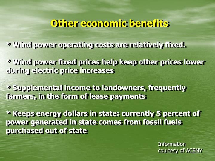 Other economic benefits