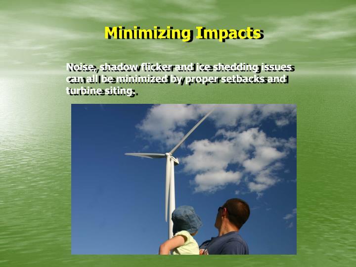 Minimizing Impacts