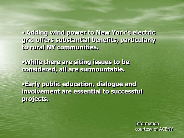 Adding wind power to New York's electric