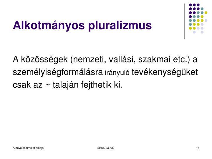 Alkotmányos pluralizmus