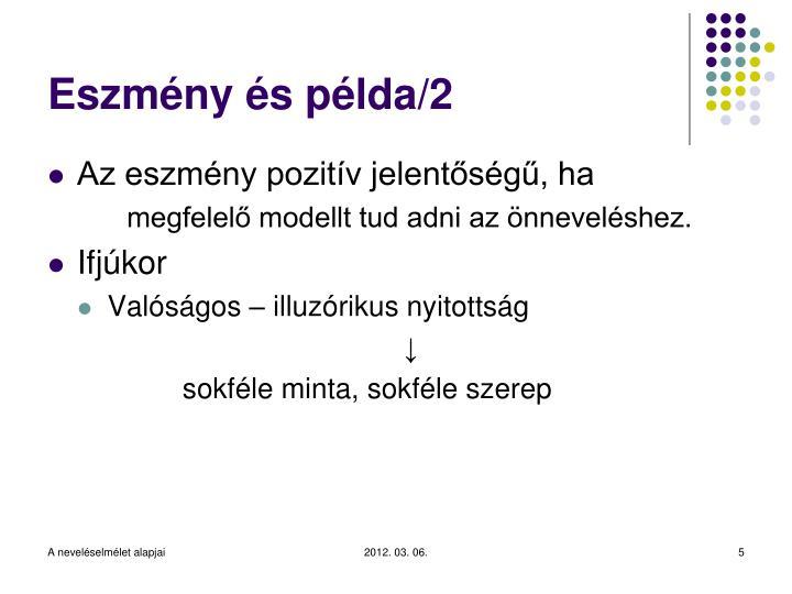 Eszmény és példa/2