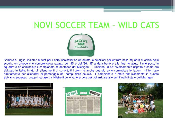 NOVI SOCCER TEAM – WILD CATS
