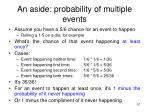 an aside probability of multiple events1