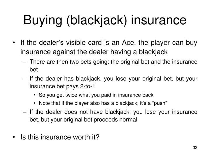 Buying (blackjack) insurance