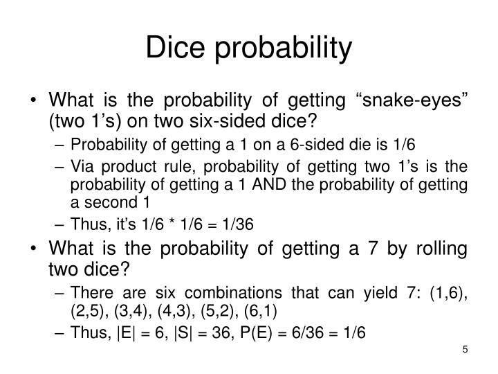 Dice probability