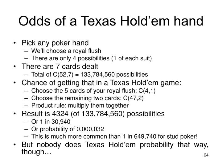 Odds of a Texas Hold'em hand