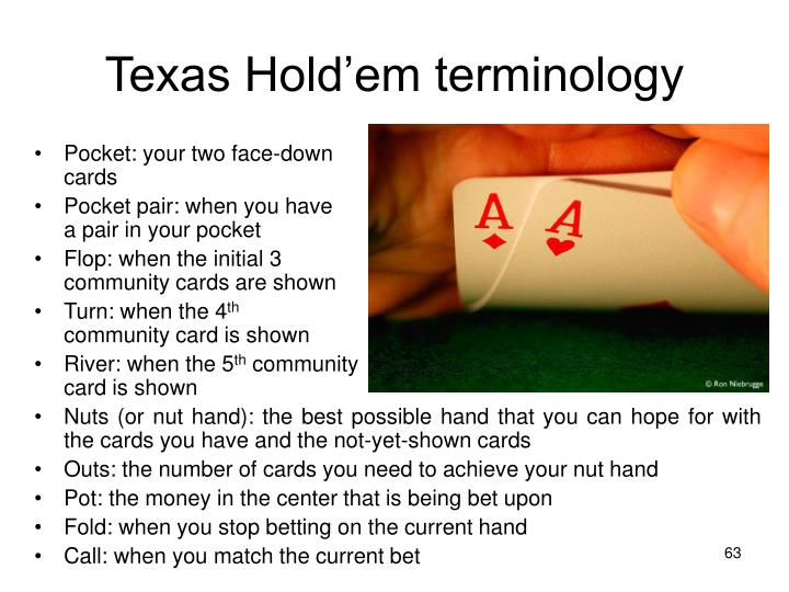 Texas Hold'em terminology