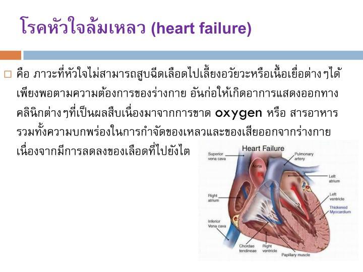 โรคหัวใจล้มเหลว (