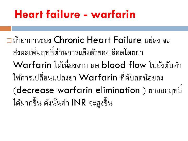 Heart failure - warfarin