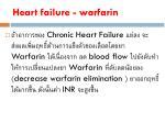 heart failure warfarin