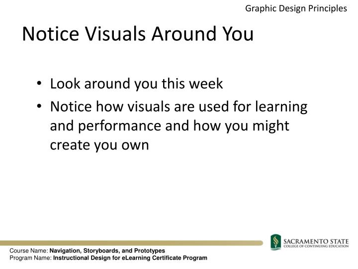 Notice Visuals Around You