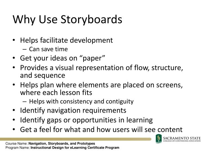 Why Use Storyboards