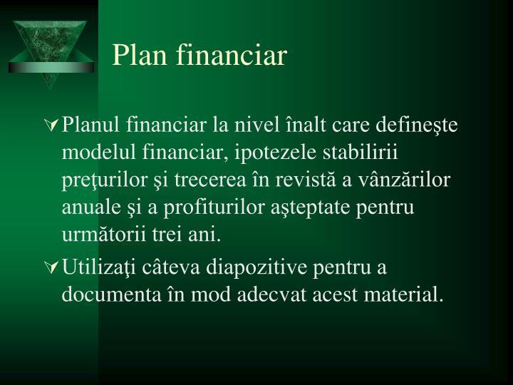 Plan financiar