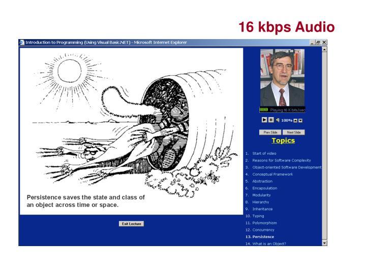 16 kbps Audio