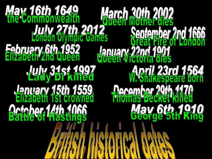 May 16th 1649