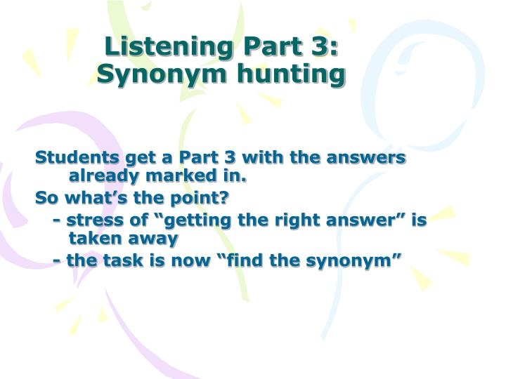 Listening Part 3: